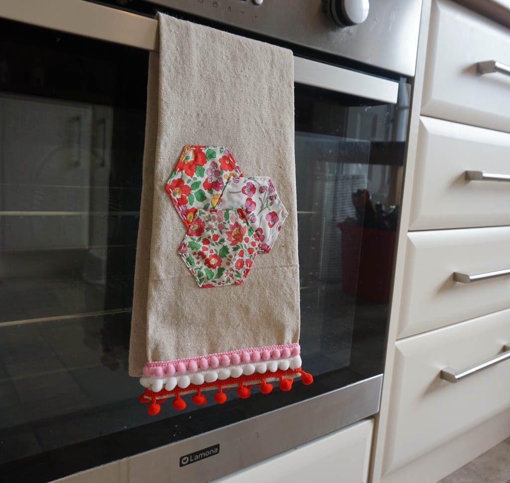 Pom Pom and Hexagon Tea Towels