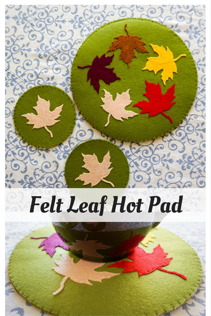 Felt Leaf Hot Pad