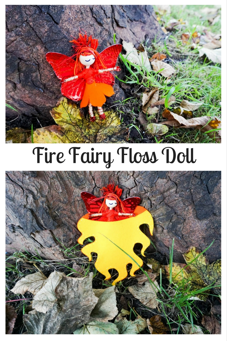 Fire Fairy Floss Doll