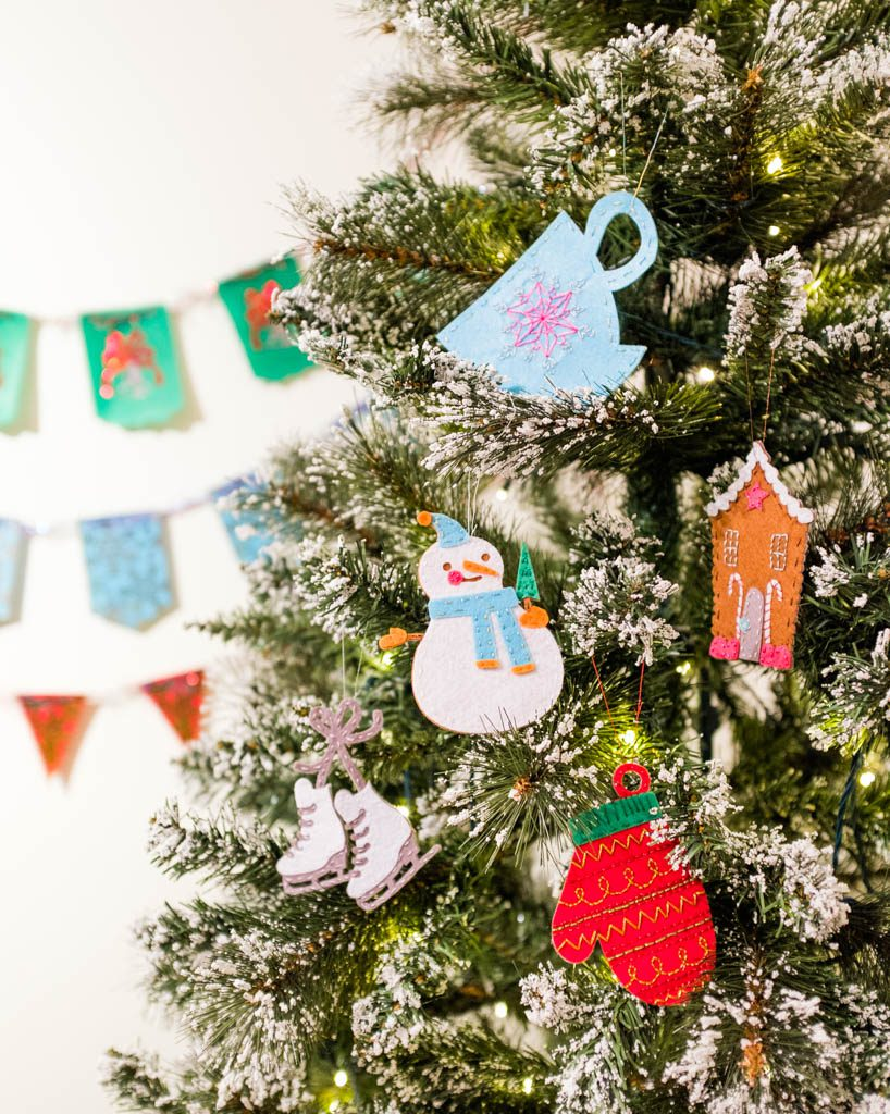 Winter Felt Ornaments with Cricut