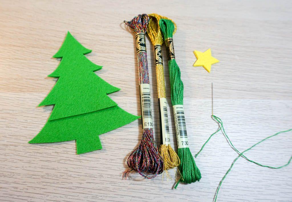 Felt Christmas Tree Scissors Pouch