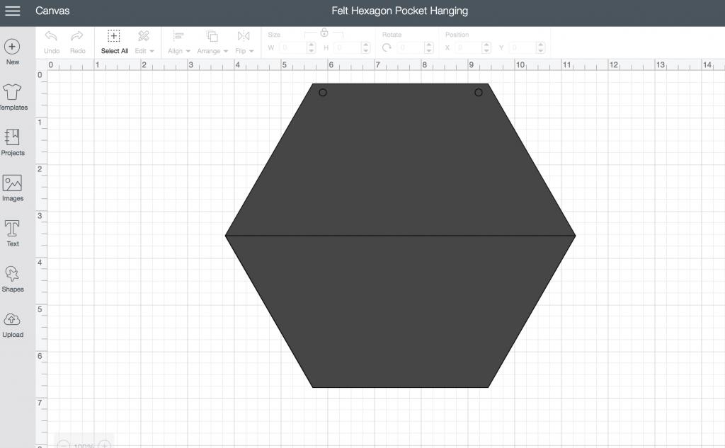 Felt Hexagon Pocket Hanging