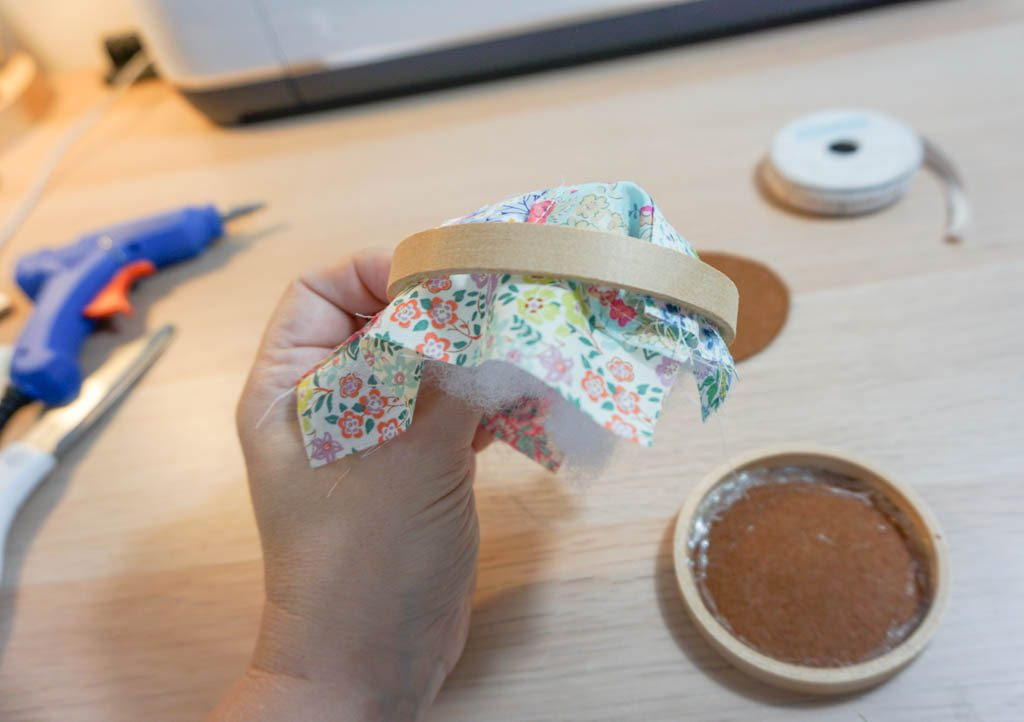 Scrap Fabric Embroidery Hoop Pincushion