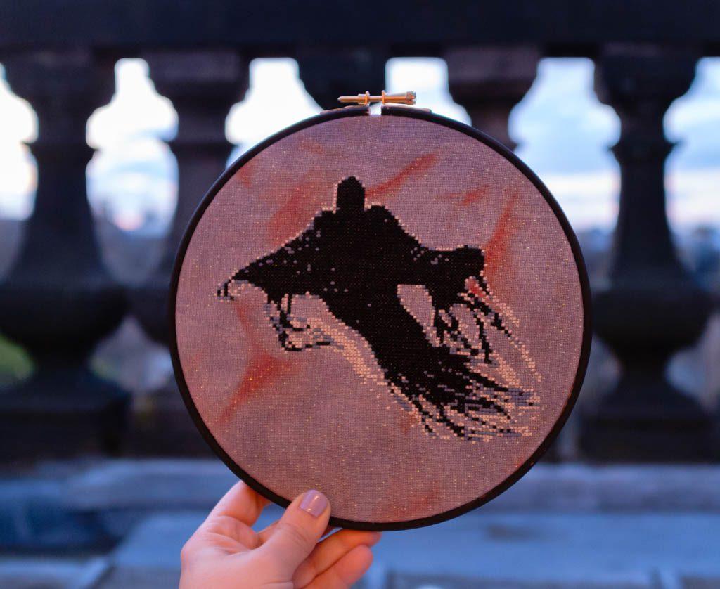 Harry Potter Dementor Cross Stitch Pattern
