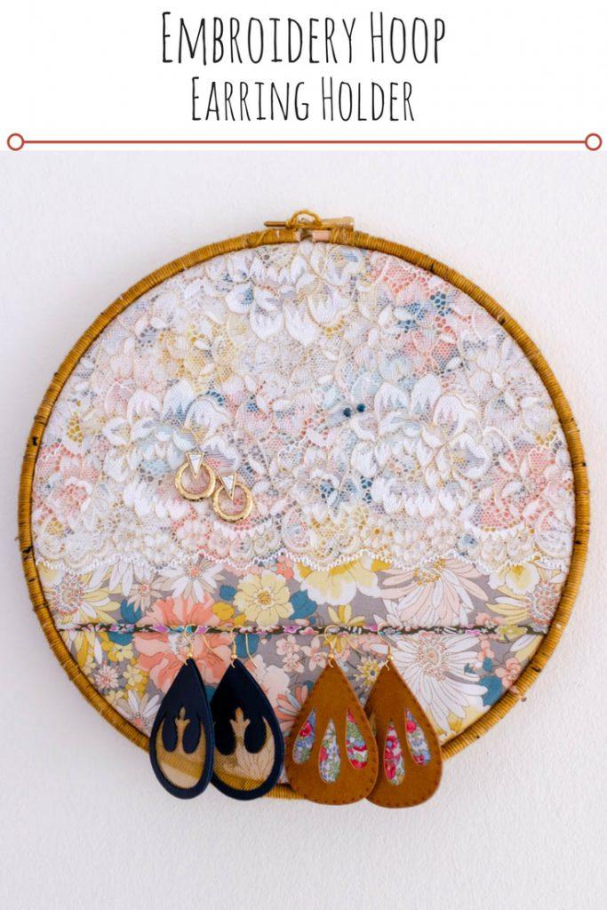 Embroidery Hoop Earring Holder