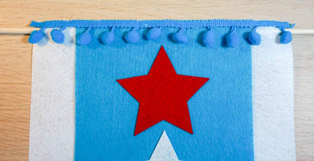Patriotic Felt Stars Banner