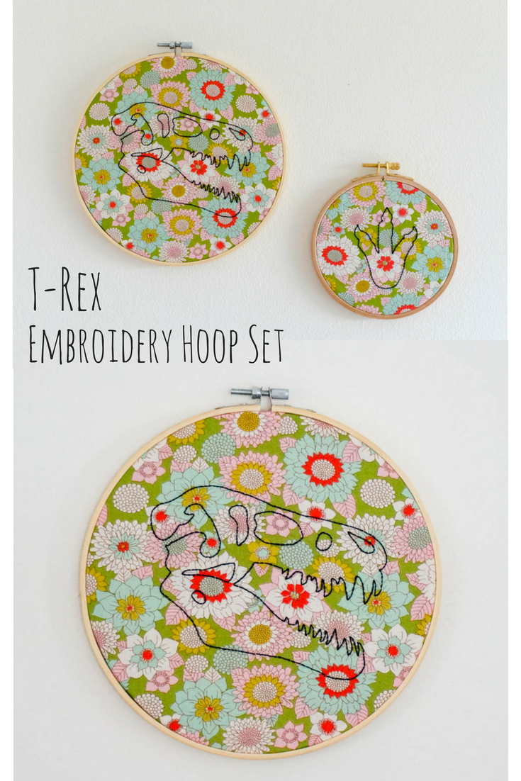 T-Rex Embroidery Hoop Set