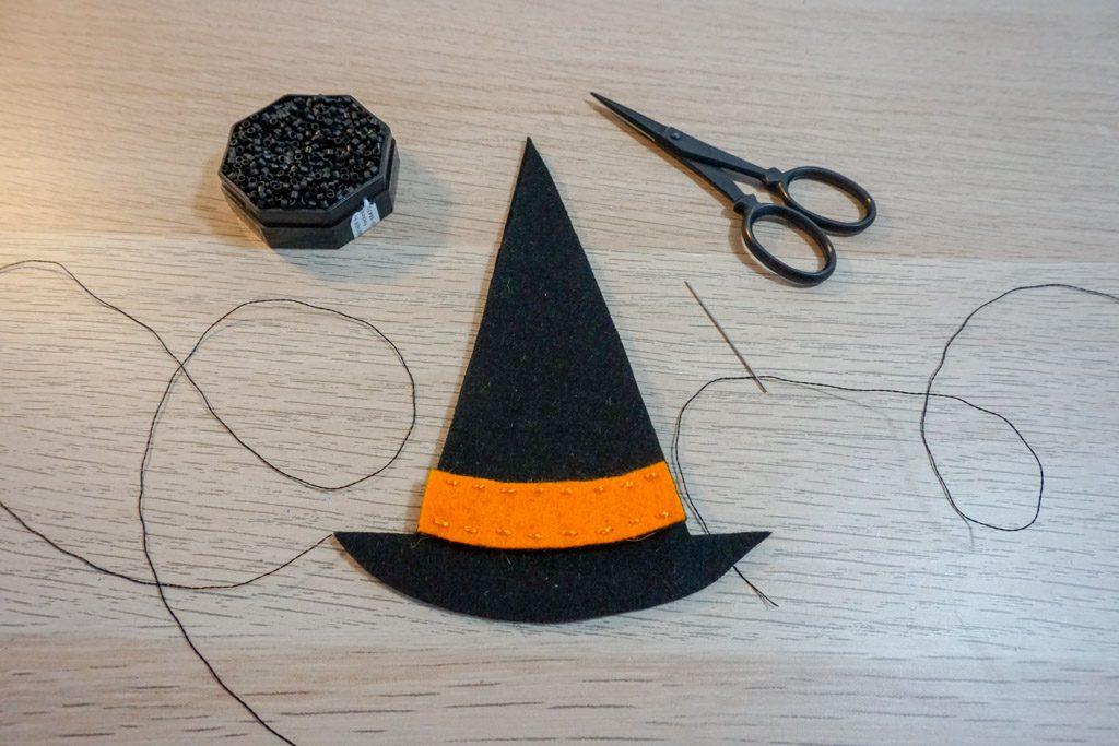 Felt Witch's Hat Scissors Pouch