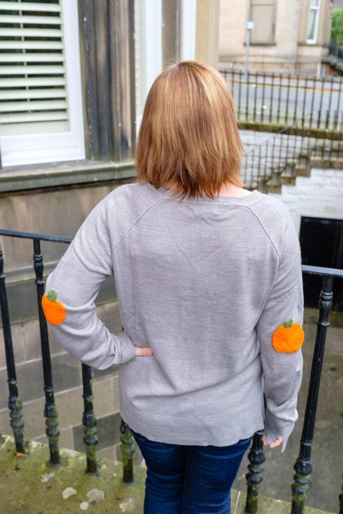 Felt Pumpkin Elbow Patch