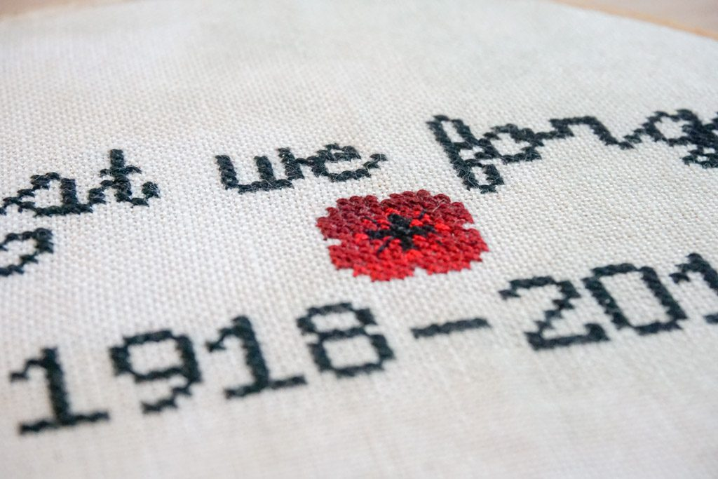 Lest We Forget Poppy Cross Stitch Pattern