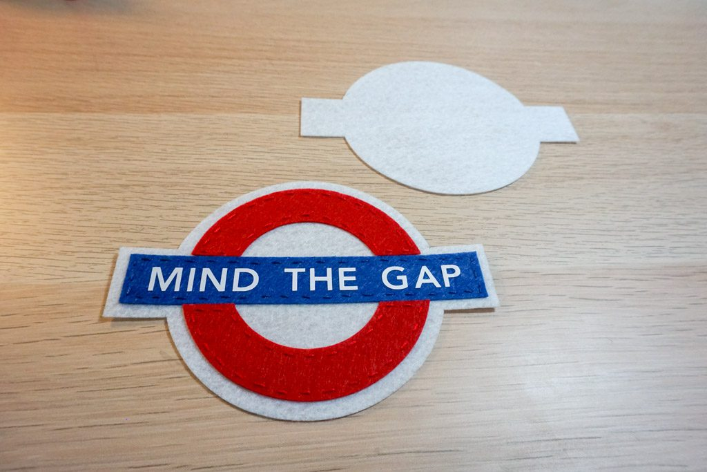 Mind the Gap London Underground Felt Ornament