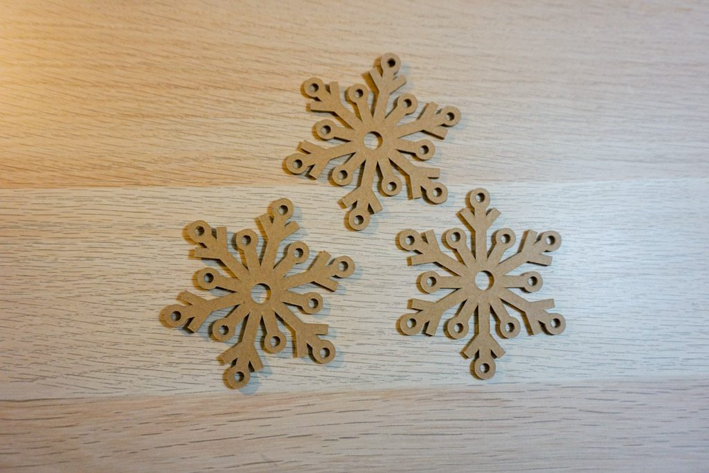 Yarn-Laced Snowflake Ornament
