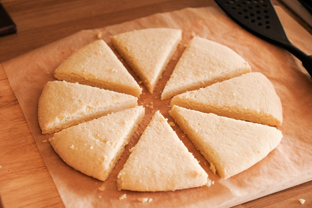 Scottish Shortbread Christmas Cookie Wedges