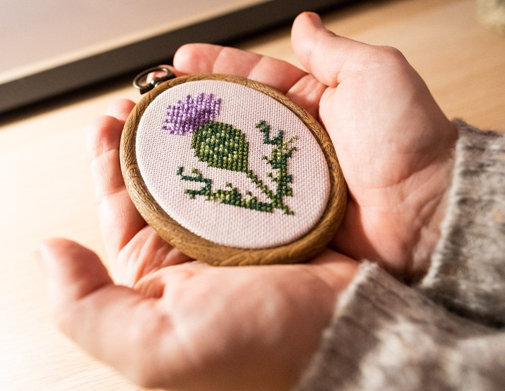 Scottish Thistle Cross Stitch Pattern