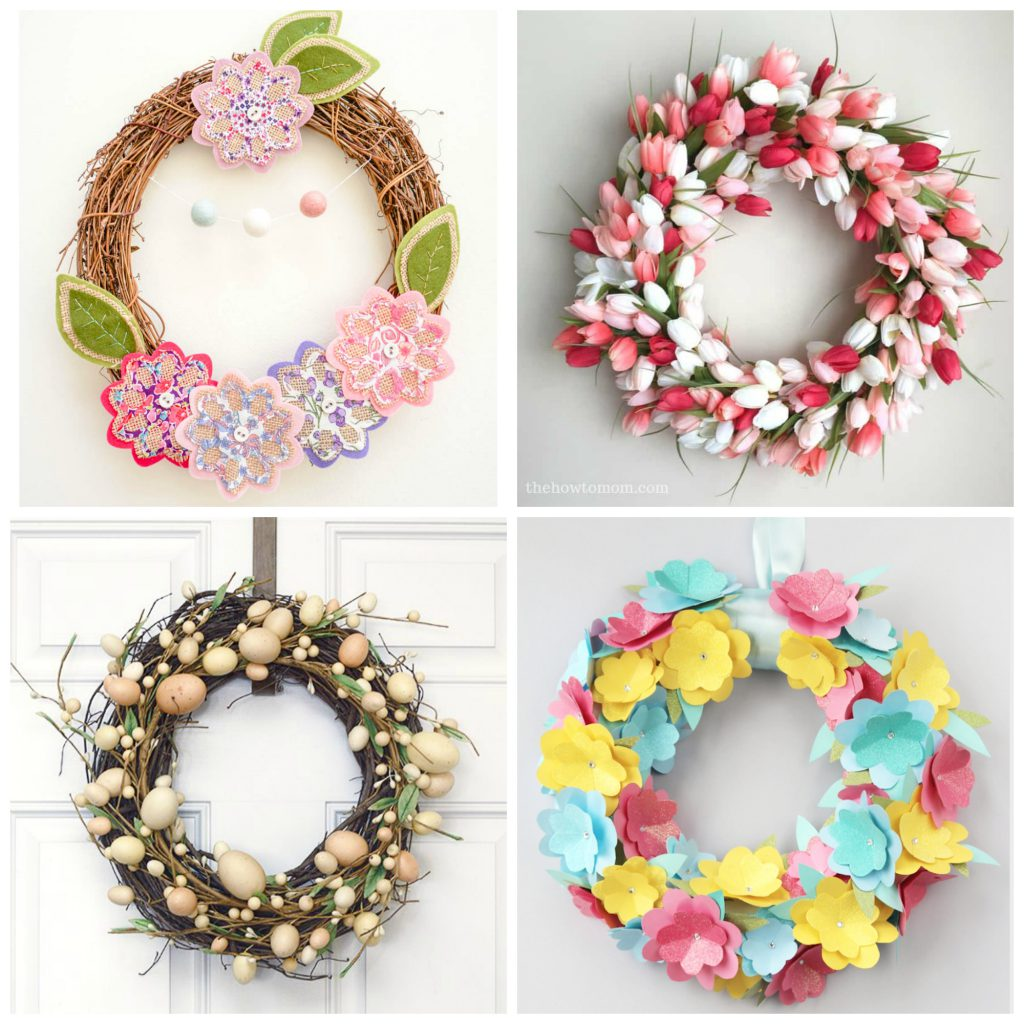 22 Sweet DIY Easter Wreaths