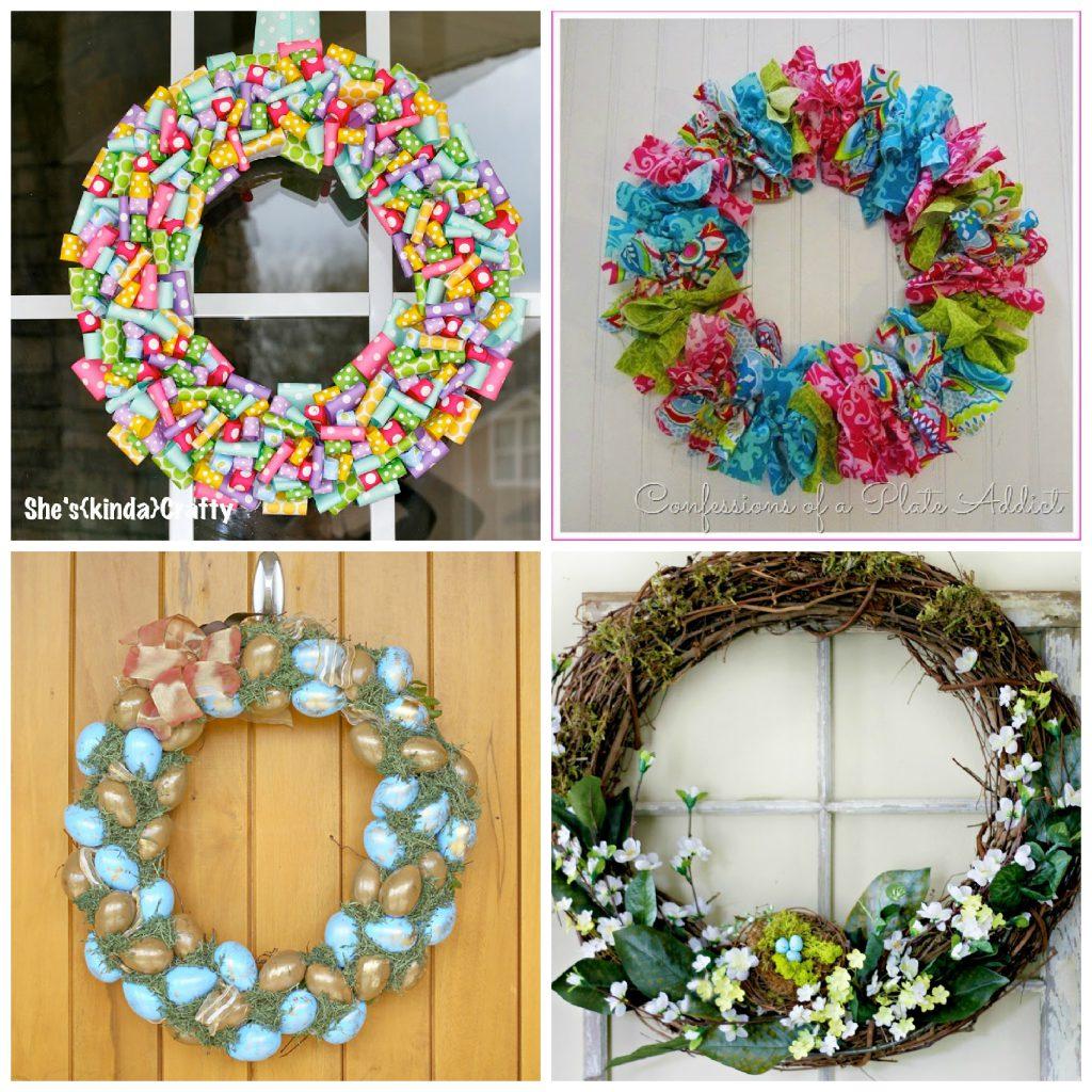 20 Sweet DIY Easter Wreaths