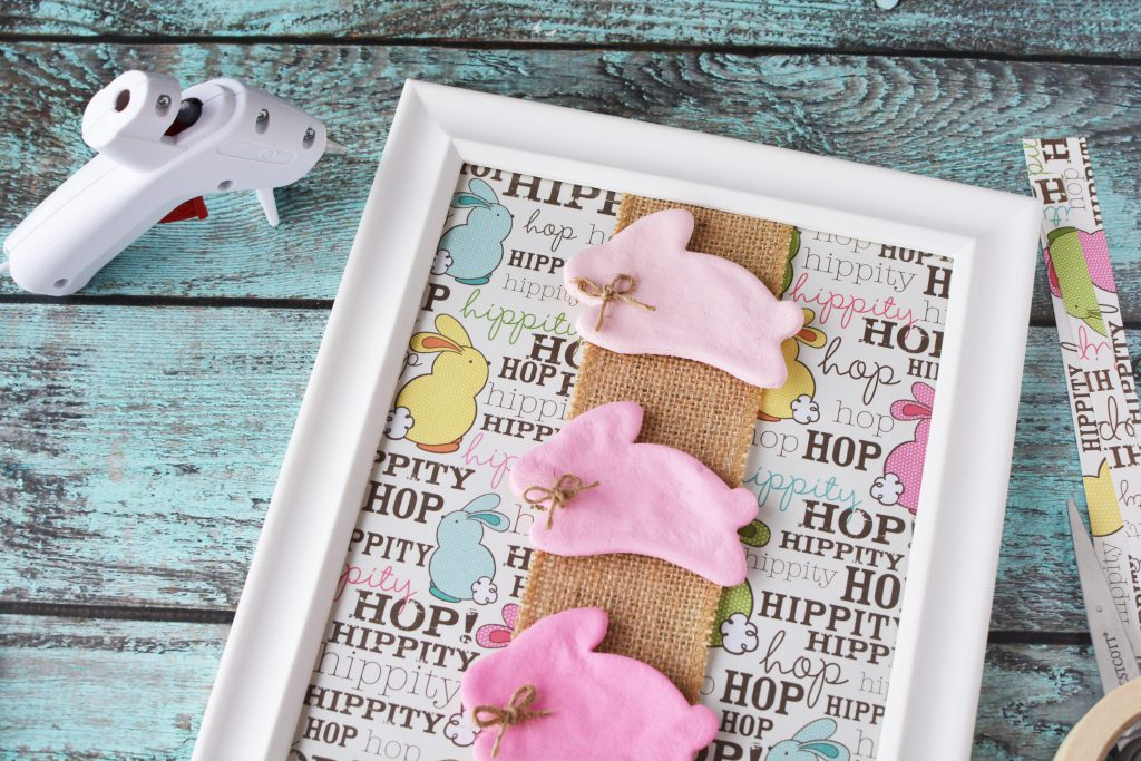 DIY Ombre Salt Dough Bunny Frame