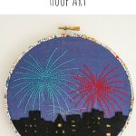 City Fireworks Hoop Art