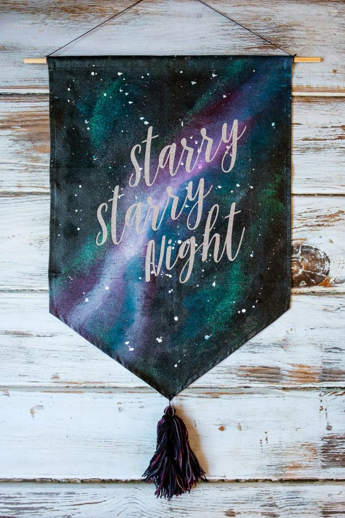 Starry Starry Night Painted Galaxy Banner