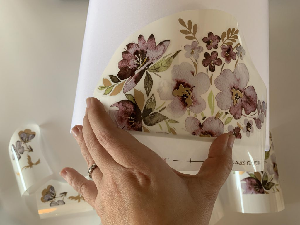 How to Update a Lampshade using Rub On Transfers