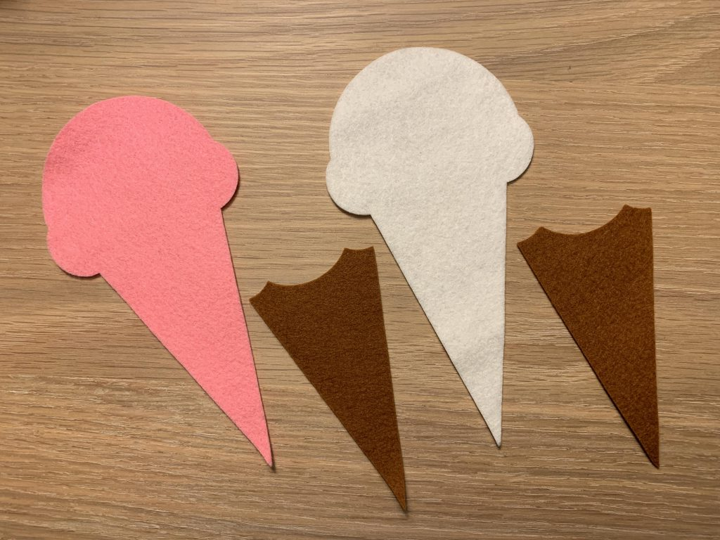 Felt Ice Cream Cone Scissors Pouch