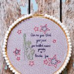 Statue of Liberty Embroidery Hoop