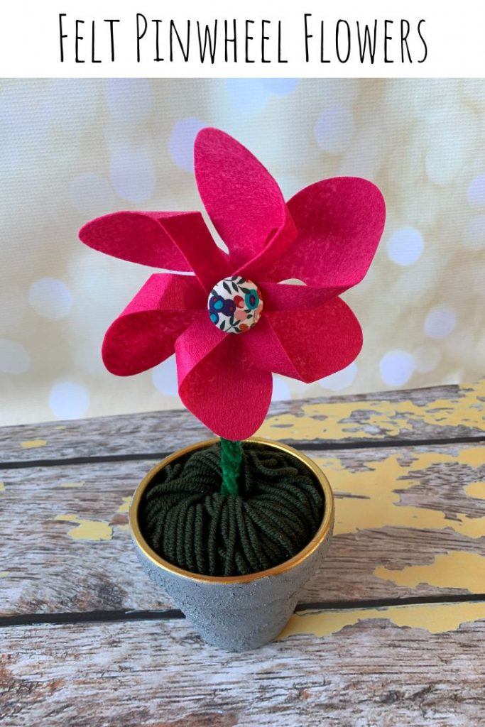 Felt Pinwheel Flowers