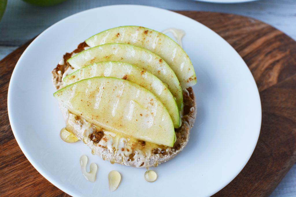 Apple Cinnamon Honey Brie Snack