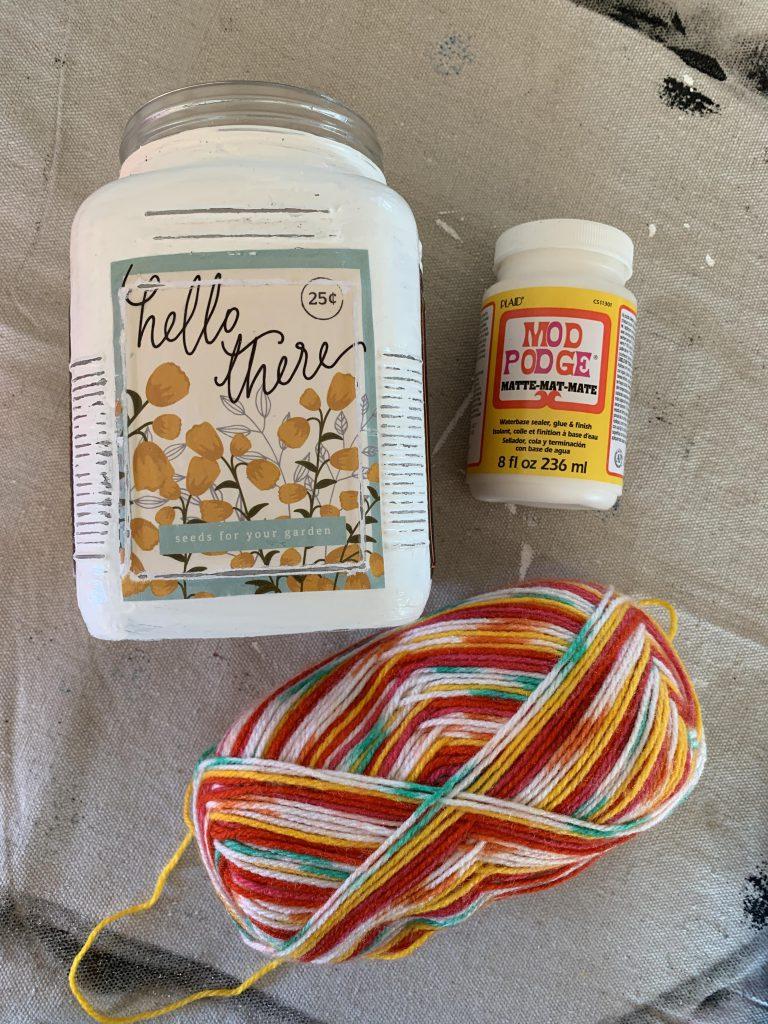 Easy Painted Jar Update