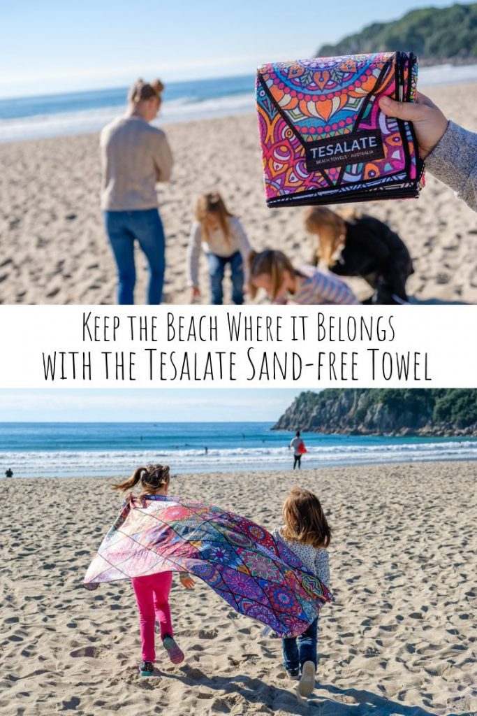 Keep the Beach Where it Belongs with the Tesalate Sand-Free Towel