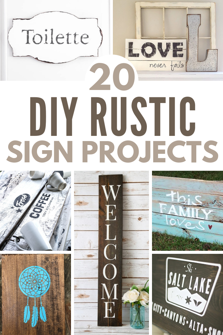 20 DIY Rustic Sign Projects