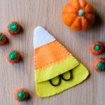 Candy Corn Scissors Pouch