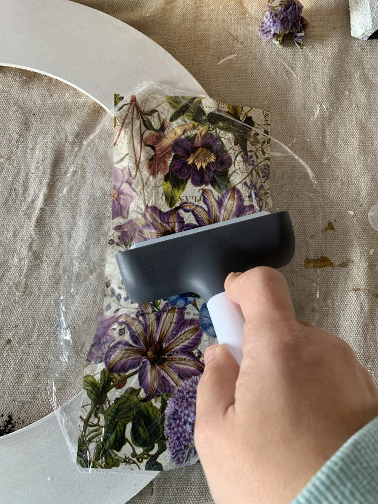 How to Update a Mirror with Decoupage