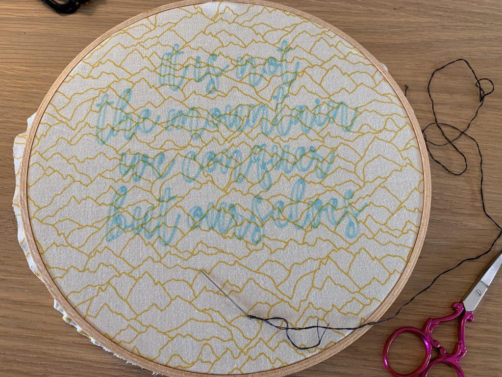 Sir Edmund Hillary Embroidery Hoop