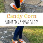 Candy Corn Painted Canvas Shoes