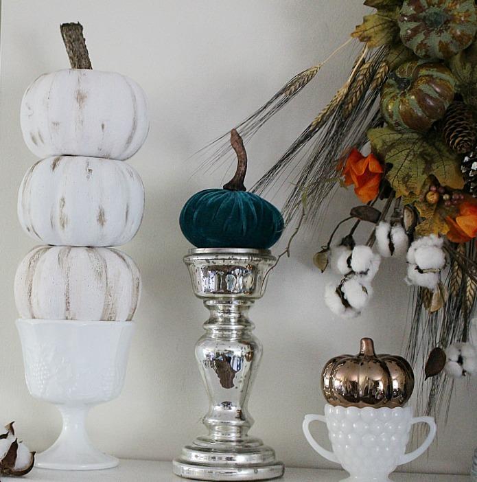 DIY Collar Store Pumpkin Topiaries