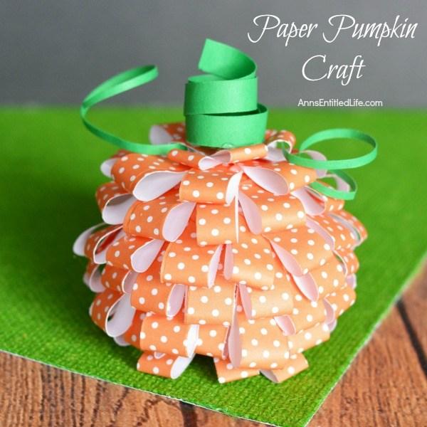 Paper Pumpkins Craft
