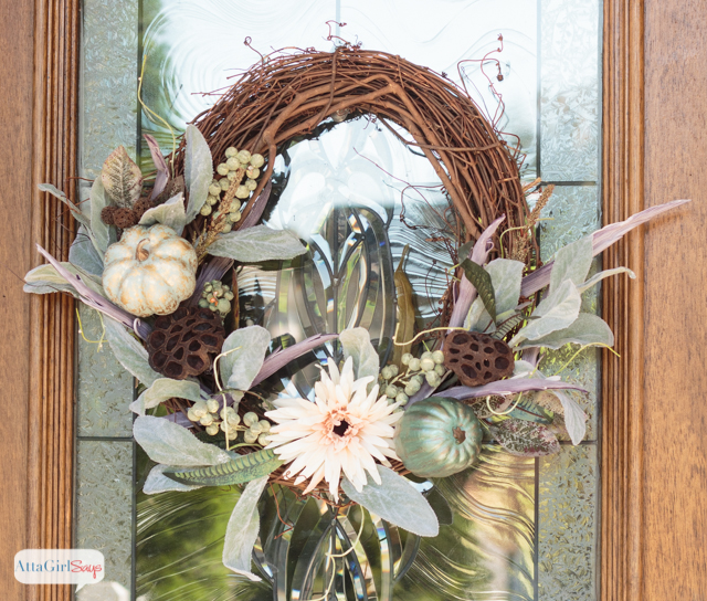 Grapevine and Pumpkins Fall Wreath