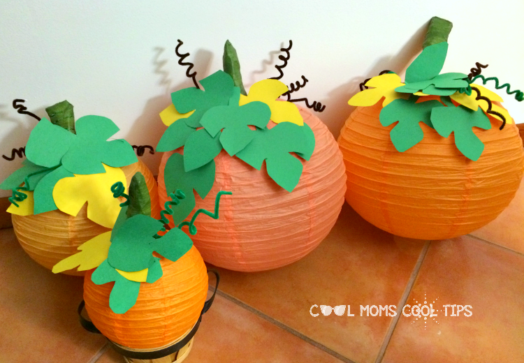 DIY Pumpkin Paper Lanterns