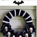 Black Rose Halloween Wreath