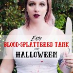 Easy Blood-Splattered Tank Costume for Halloween