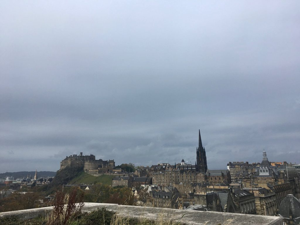 A view from the roof of the National Museum of Scotland