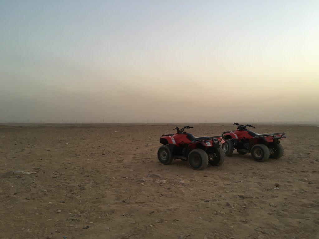 four-wheelers in the desert