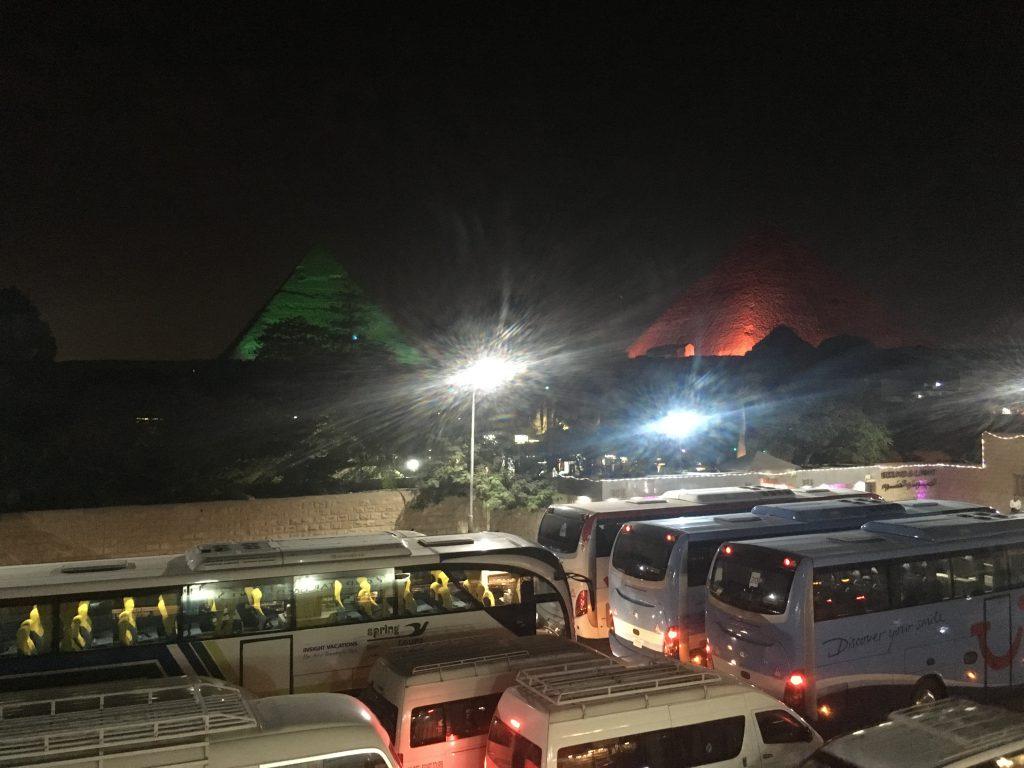 pyramids light show